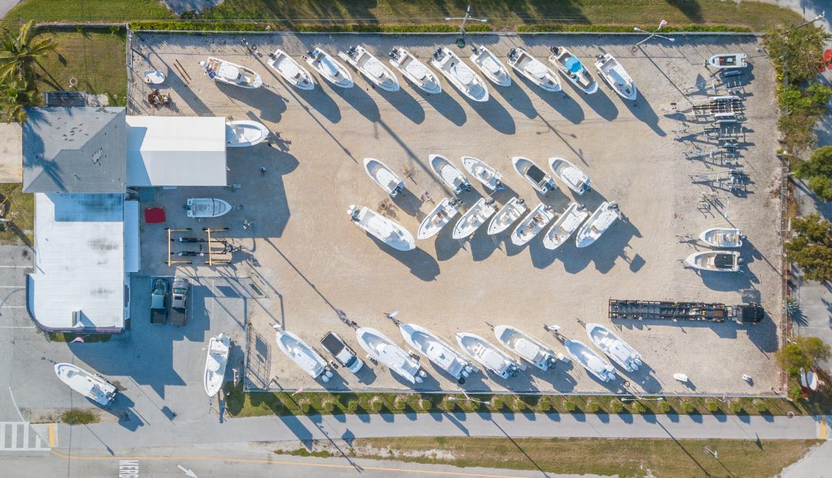 Yacht Works Key Largo Aerial Shot